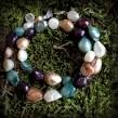 Nr. A029 - Perlen und Perlmutt gefärbt