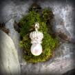 Nr. S043 - Perle mit Krone 25x10mm